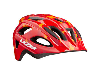 Lazer P'Nut Helmet, Red Stars, Uni-Kids