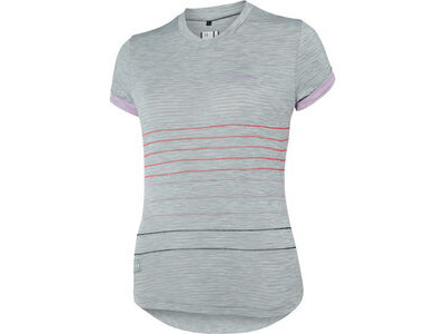 Madison Leia women's short sleeve jersey, silver grey / violet mist