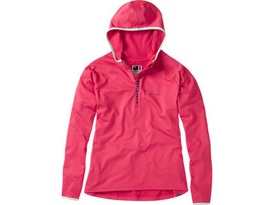 Madison Zena Women's Long Sleeve Hooded Top, Rose Red