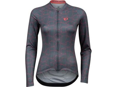 Pearl Izumi Women's Attack Long Sleeve Jersey, Turbulence/Atomic Red Origami