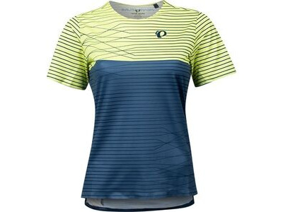 Pearl Izumi Women's Launch Jersey, Sunny Lime/Dark Denim Frequency