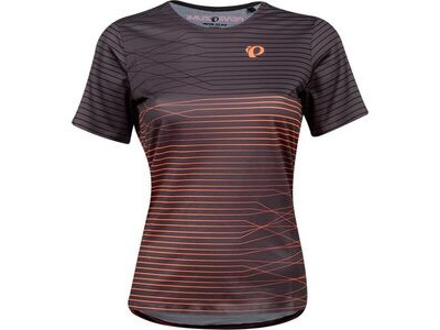 Pearl Izumi Women's Launch Jersey, Phantom/Fiery Coral Frequency