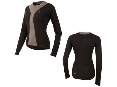 Pearl Izumi Women's, Select Pursuit LS Jersey, Black/Smoked Pearl