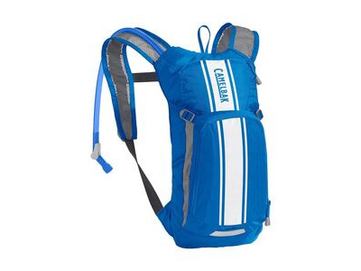 CamelBak Kids' Mini Mule Hydration Pack Lapis Blue/White Stripe 3 Litre
