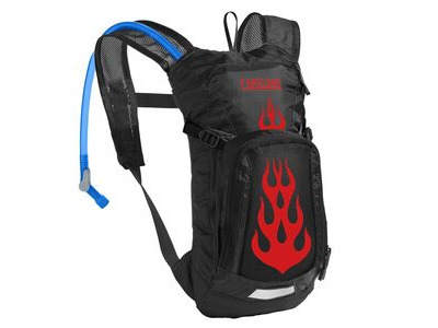 CamelBak Kids' Mini Mule Hydration Pack Black/Flames 1.5l/50oz