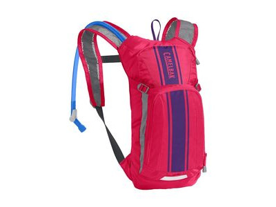 CamelBak Kids' Mini Mule Hydration Pack Hot Pink/Purple Stripe 3 Litre